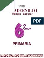 6°?♾️Cuadernillo remedial primaria