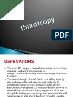 Thixotropy