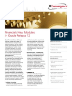 FINANCIALS NEW MODULES IN ORACLE RELEASE 12