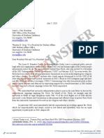 LDB Letter to President Folt and VP Crisp