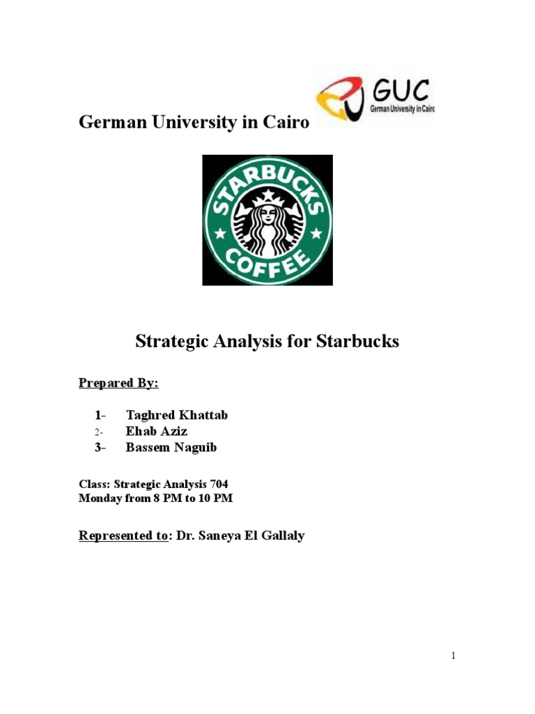 starbuck strategic analysis term paper Strategic analysis – starbucks introduction 11 history of starbucks coffee company starbucks company has been referred to as a global coffee enterprise as well as a coffee house chain.