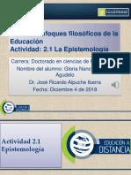 Gloria Nancy Romero Actividad 2.1 Epistemología