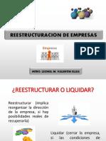 10° SEMANA PROCEDIMIENTOS CONTABLES SOBRE REESTRUCTURACIÓN DE EMPRESAS
