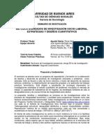 Sem INvestigacion Sociolaboral - Cuantitativa