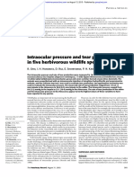 Intraocular pressure and tear production in five herbivorous wildlife species