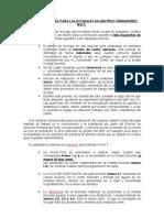 MEF normas generales para la estancia en centros formadores