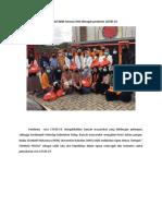 Aksi Peduli BEM Farmasi UHO ditengah pendemic COVID-1