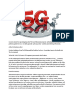 5G RADIATION SICKNESS STUDIES