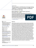 Risk perception and behavioral change during