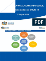 GAUTENG PROVINCIAL COMMAND COUNCIL Media Briefing Presentation by Premier David Makhura - 7 August 2020
