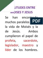 SIMILITUDES ENTRE MOISES Y JESUS