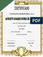 certificado teste