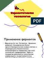 Презентация Ферментативная технология