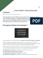 Chiffrage d'un projet _ évaluation des charges