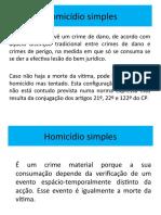 Homicídio simples