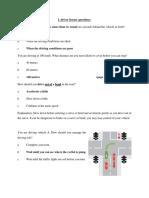 L driver license questions part 1