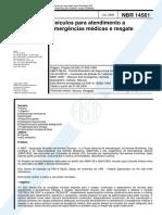 NBR 14561 - Veículos para atendimento a emergências médicas e resgate