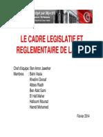 cadre législatif et réglementaire de la GBO