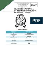 PROTOCOLO DE BIOSEGURIDAD COVID-19 GRANJA TAIJU S.A.S