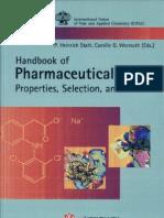 Handbook of pharmaceutical salts
