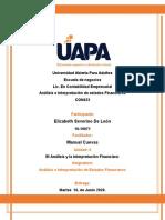 TAREA 6 DE  ANALISIS E INTERPRETACION DE ESTADOS FINANCIEROS