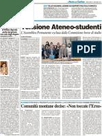 Tensione Ateneo-Studenti / Solenghi, lezione su politica e comicità / Comunità monttane