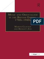 (Music in nineteenth-century Britain.) Clayton, Martin_ Zon, Bennett - Music and Orientalism in the British Empire, 1780s-1940s_ Portrayal of the East.-Taylor and Francis (2007)