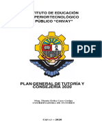 PLAN GENERAL DE TUTORIA 2020 aprobado