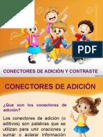 CONECTORES DE ADICIÓN Y CONTRASTE..ppt