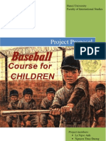 Baseball Course for Children