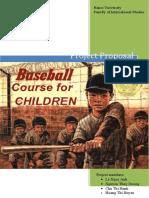Baseball Course for Children