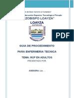 ENFERMERÍA - GUIA RCP ADULTOS