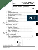 14423 - X-ray Tube Assembly & Installatiohhsn Manual
