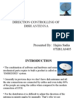 direction controlling dish antenna