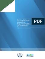 Política Nacional de Justicia 2009-2014 - MJSP - El Salvador