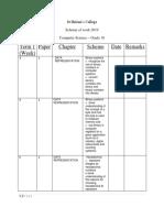 Scheme of work grade 10