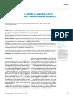 Entrenamiento en cinta rodante con soporte parcial del peso corporal en pacientes con lesión medular incompleta