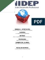 TIPOS DE FORMATOS DE LA PLANEACION OPERATIVA