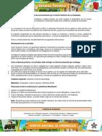 Instrucciones actividad de reconocimiento diagnóstico Centro Histórico