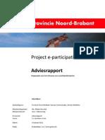 project e-participatie Adviesrapport (stappenplan voor het uitvoeren van e-participatietrajecten) 1.2 openbare versie