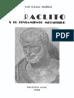 Julio Casal Munoz - 1958 - Heraclito y el pensamiento metafisico