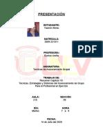 Yasmin - Resumen Cap. 10, Tecnias, Estrategias y Sistemas del Asesoramiento de Grupo