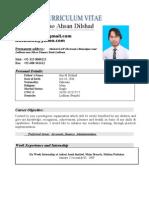 ahsan's CV