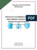 trabajo de protocolo de desinfeccion