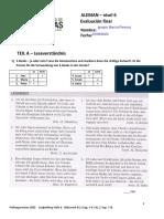 Endprüfung 2020 -Stufe 6 - LV und schriftlicher Teil