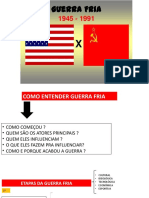 - GUERRA FRIA - MUNDO BIPOLAR - VELHA ORDEM MUNDIAL