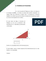 9° EL TEOREMA DE PITAGORAS.doc