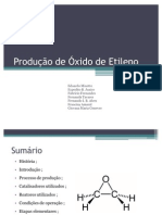 Produção de Óxido de Etileno