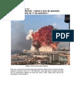 Explosões em Beirute - Líbano é alvo de operação_5Ago.2020
