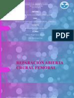 REPARACIÓN ABIERTA CRURAL FEMORAL.pptx
